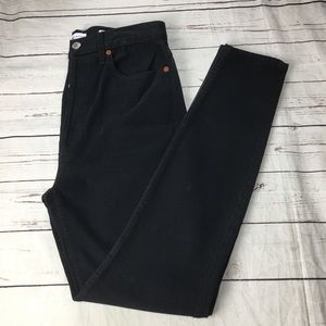 Re/done originals high rise skinny size 30 black